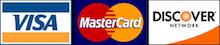 Visa Matercard Discover Credit Card Logos